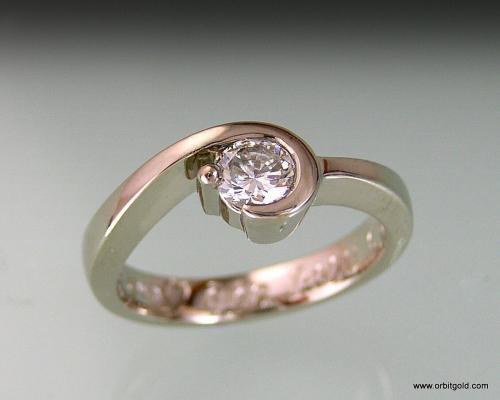 Custom Diamond Engagement Ring In White Gold #DR13