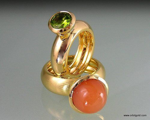 Yellow Gold Rings With Big Gemstones