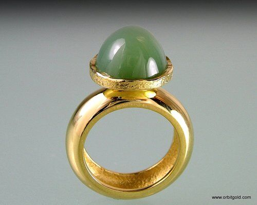 Domed Jade Lolly Ring