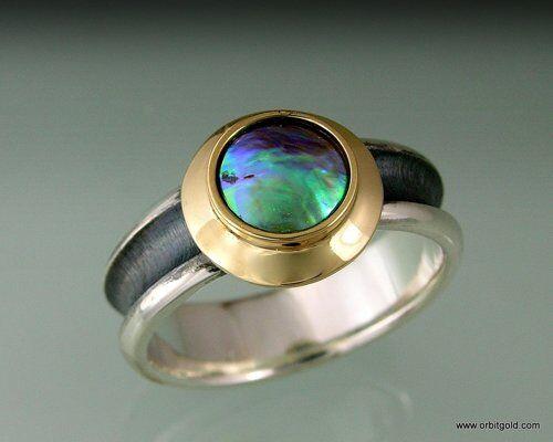 NZ Blue Pearl Ring