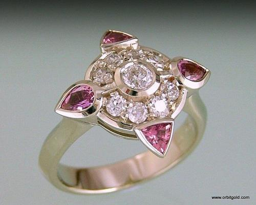 Designer Ring With Sapphires And Diamonds