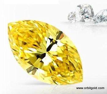 Yellow Diamond Navette Cut