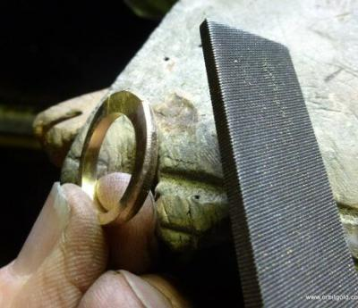 Filing contour of ring