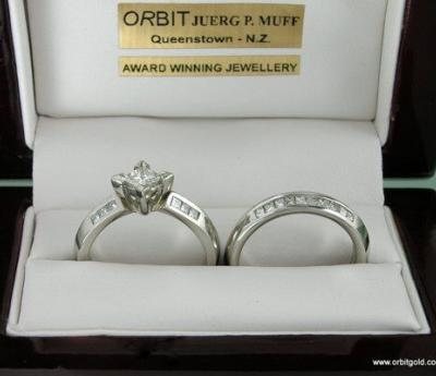 Princess cut Diamond ring set