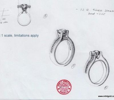 Sketches diamond rings