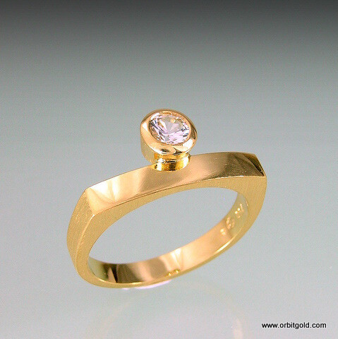 Sapphire BRIDGE ring ORBIT Collection