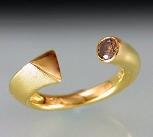 Yellowgold Chocolate Diamond Ring