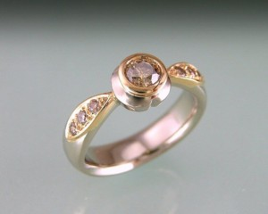 Chocolate and Pink Diamond Ring