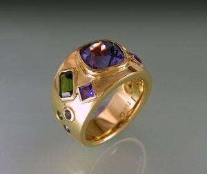 Bespoke Sapphire & Tourmaline ring