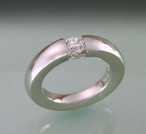 Illusion tension-set Diamond Ring in Platinum