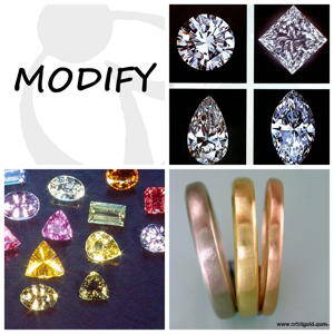 Modify diamonds, gemstones and metal quality