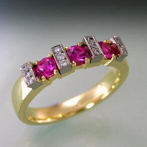 Ruby and Diamnod ring