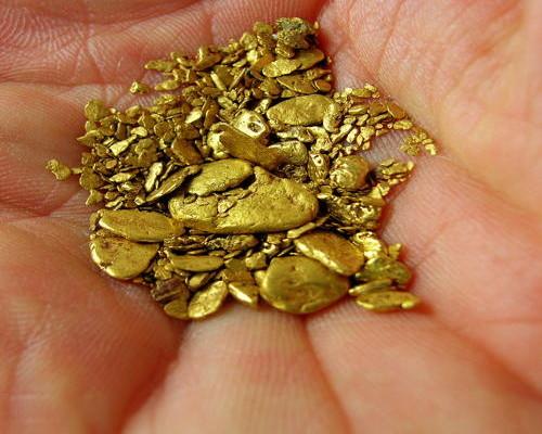 alluvial gold