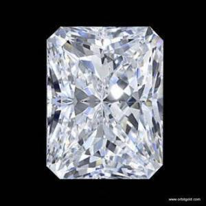 Radiant cut diamond view